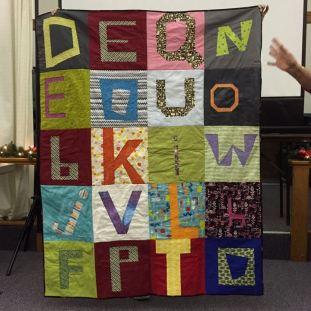 Deb's Quilt Now alphabet quilt.